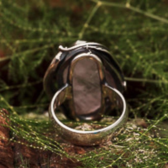 Ring Rozenkwarts Ruw Floraal