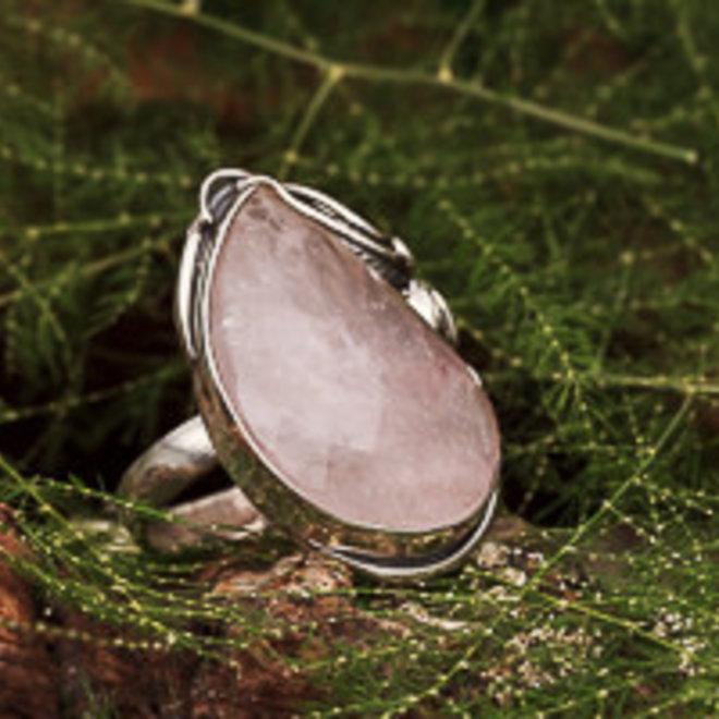Rozenkwarts ring 'Poara'