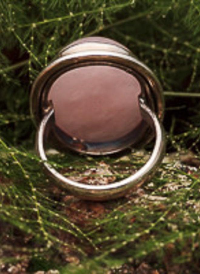 Ring Rozenkwarts Ovaal