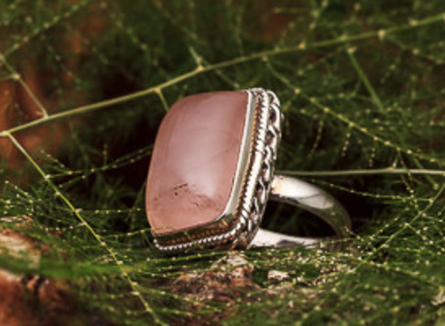 Ring Rozenkwarts Rechthoek Deco