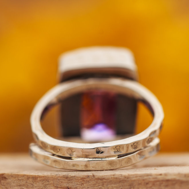 Amethist ring 'Doublé'