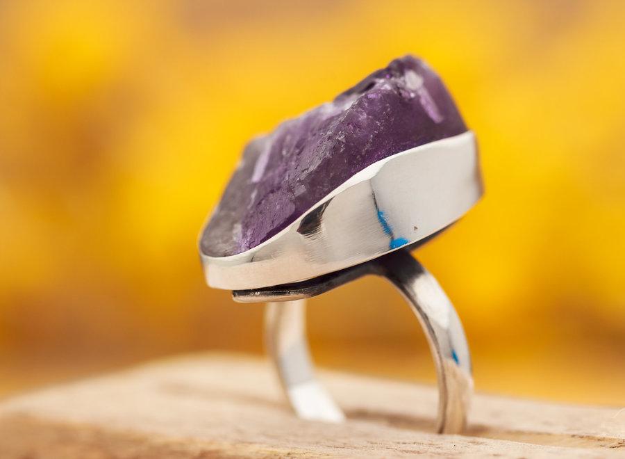 Ring Ruwe Amethist