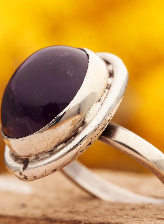Ring Amethist Rond
