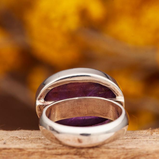 Ring Amethist Ovaal