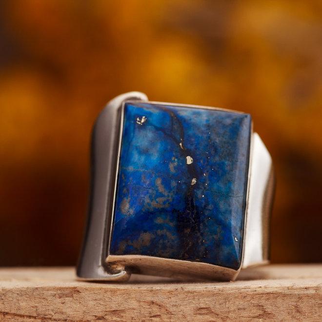 Ring Lapis Lazuli Vierkant