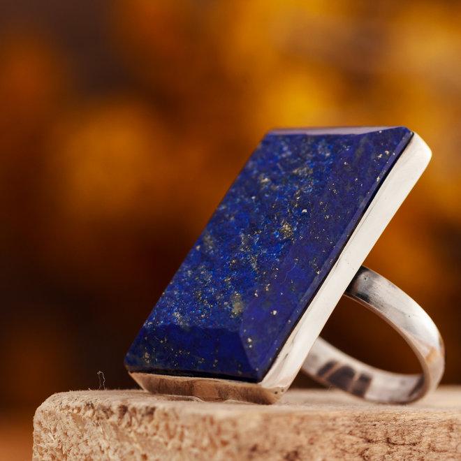 Ring Lapis Lazuli Rechthoek