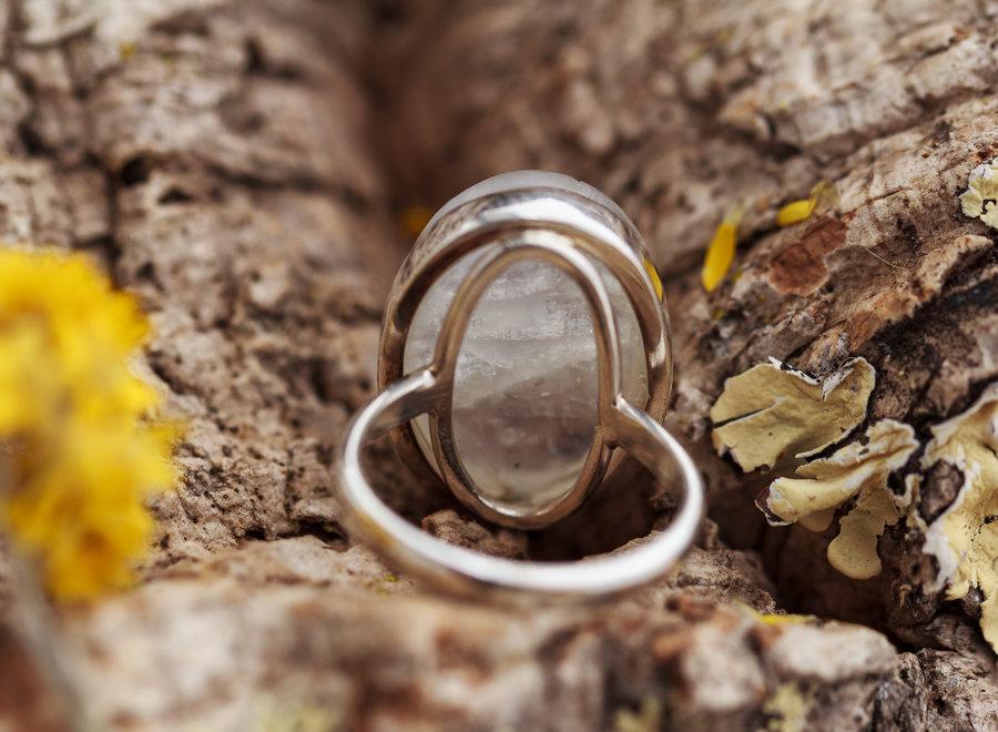 Ring Maansteen Ovaal