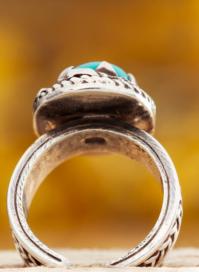 Ring Ronde Turkoois