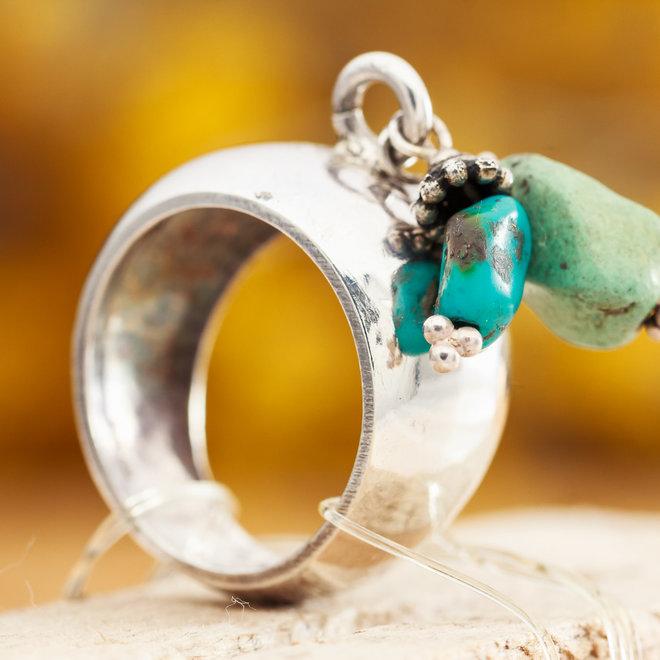 Ring Met Twee Losse Turkoois