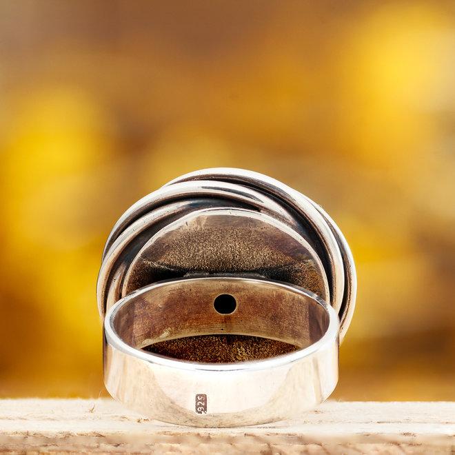 Ring Turkoois Scarabee