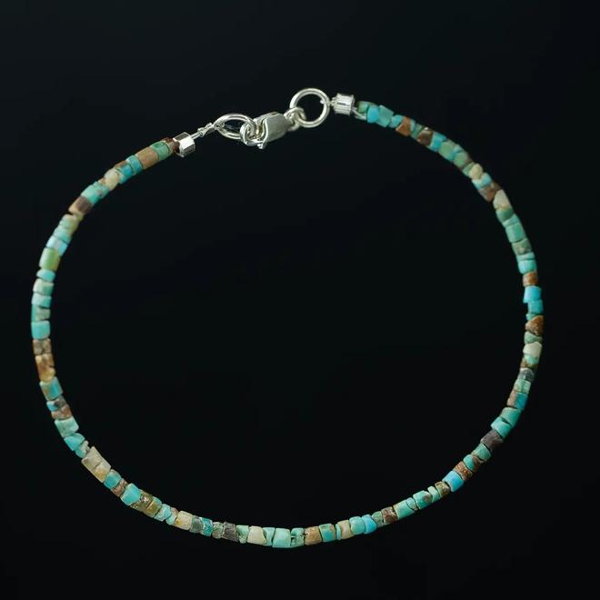 Turkoois armband 'Cylindrus'