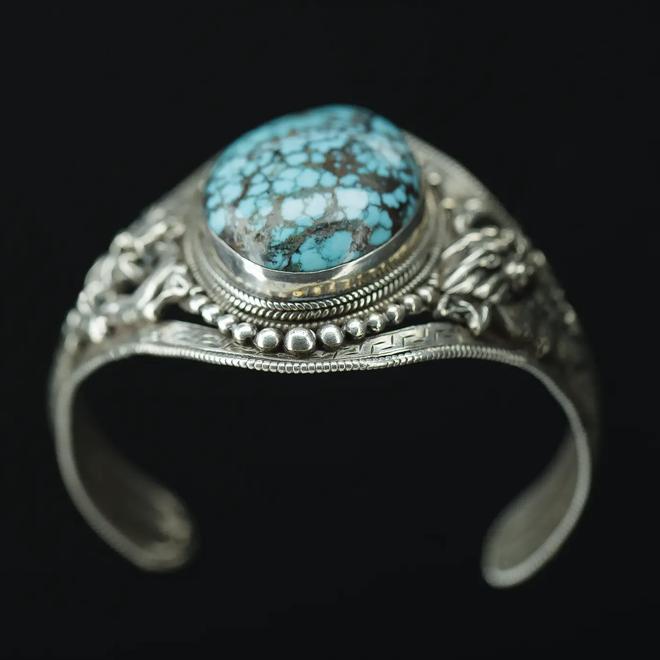 Turkoois armband 'Saecularia'