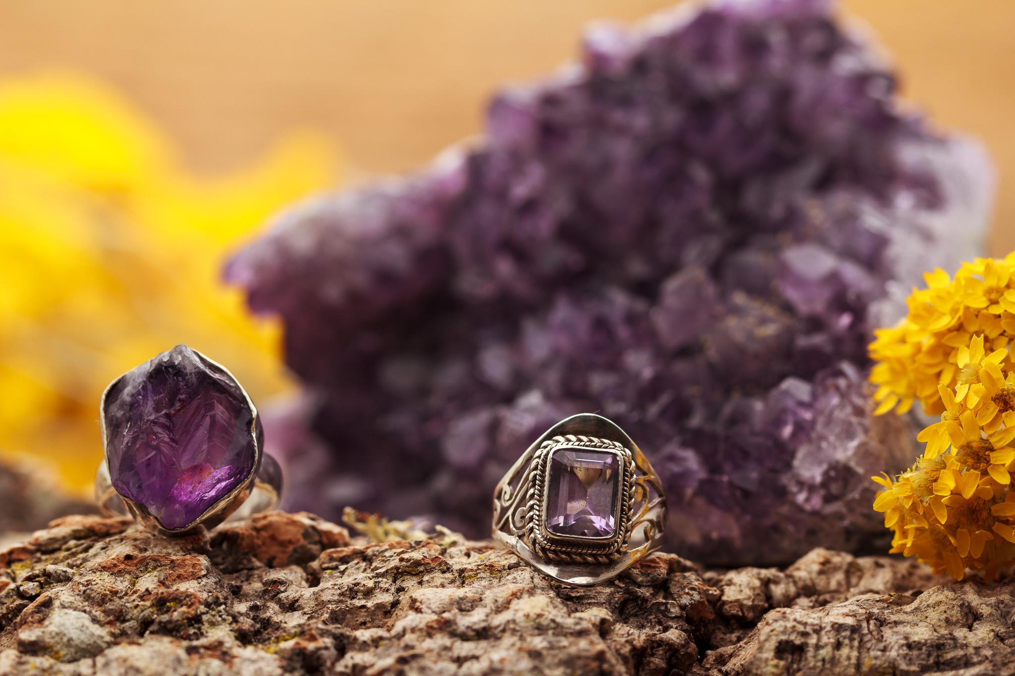 Amethist edelstenen sieraden