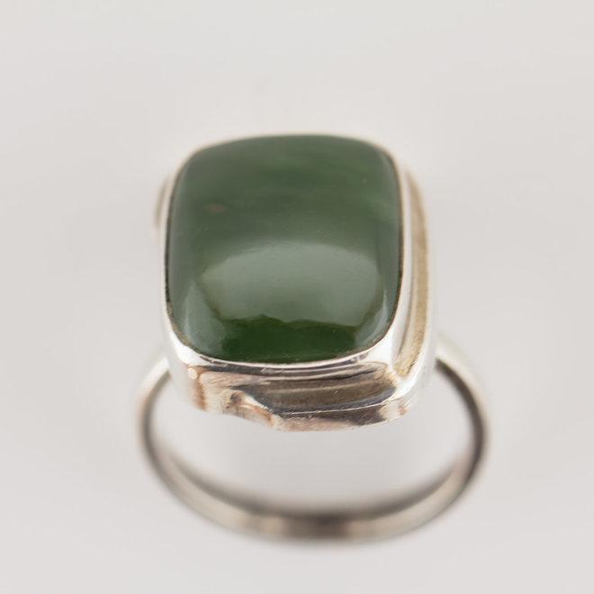 Jade ring 'Rechthoek'