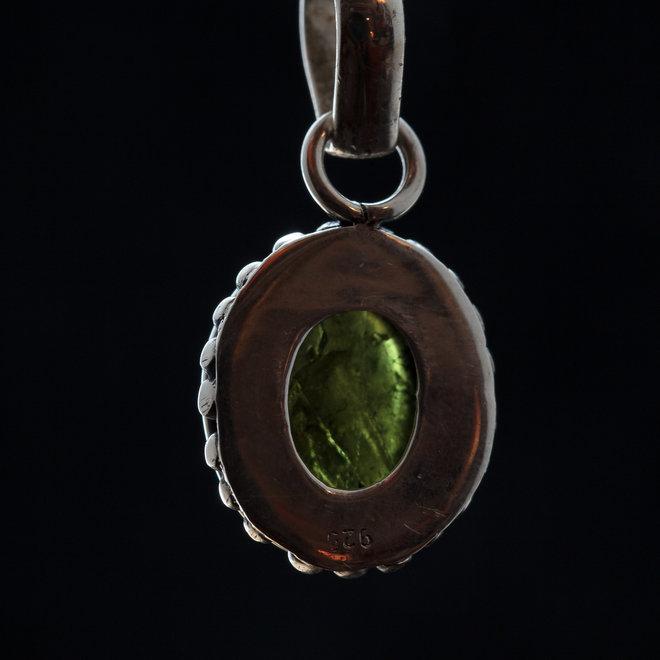 Groene Toermalijn hanger 'Viridi' gezet in 925 zilver