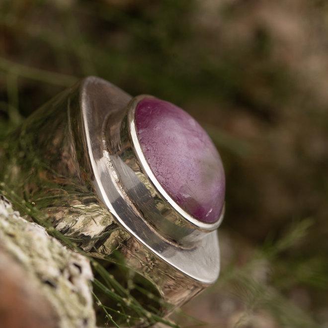 Ring Robijn 'Ratnanayaka' van 925 zilver