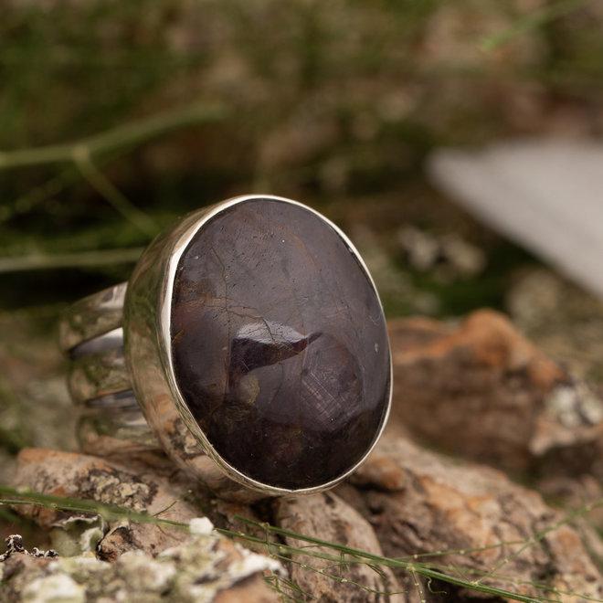 Ring Robijn 'Rubeus' gemaakt 925 zilver