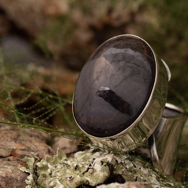 Ring Robijn 'Stella' van 925 zilver uit eigen atelier