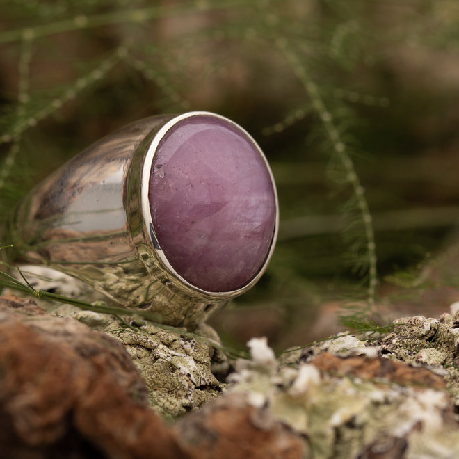 Ring Robijn 'Ratnaraj'  van 925 zilver