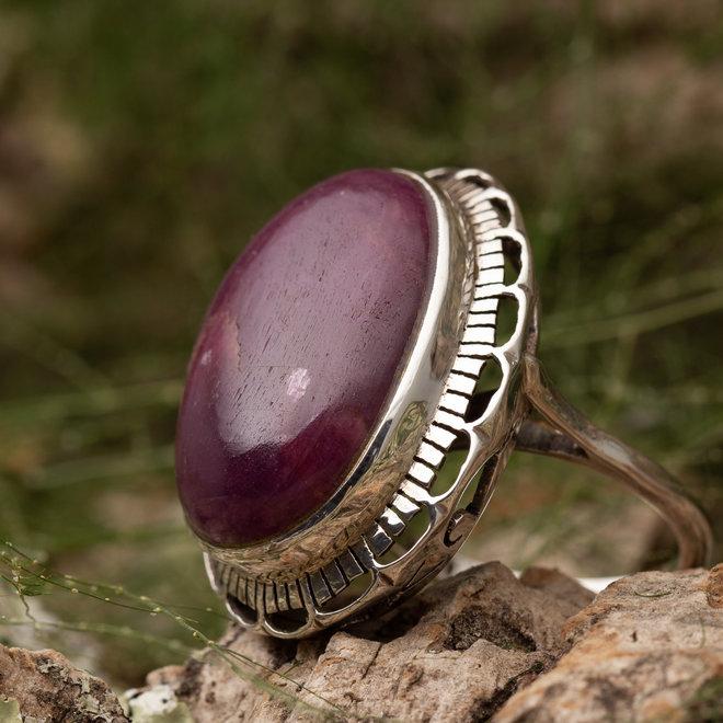Ring Robijn 'Magna' van 925 zilver