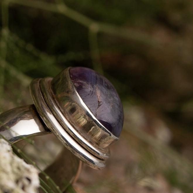 Rind Robijn 'Hagl' gemaakt van 925 zilver