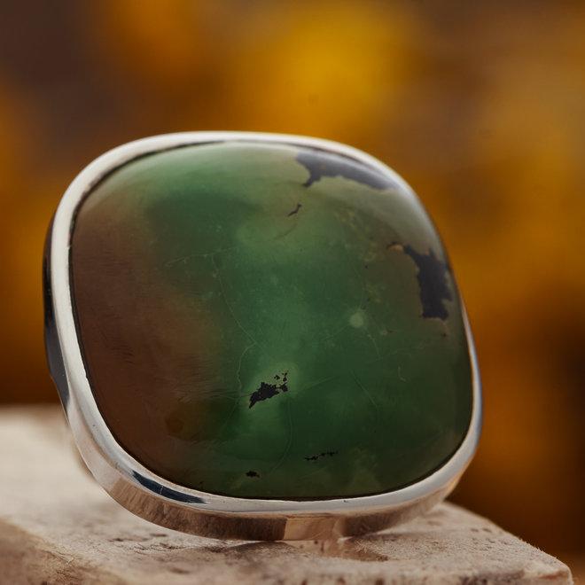 Turkoois ring 'Mila' is gemaakt van 925 zilver