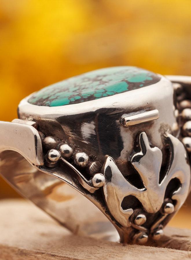 Turkoois ring 'Sella'is van 925 zilver