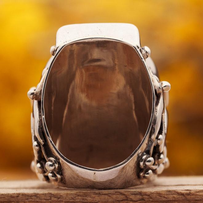 Turkoois ring 'Sella' gezet in 925 zilver