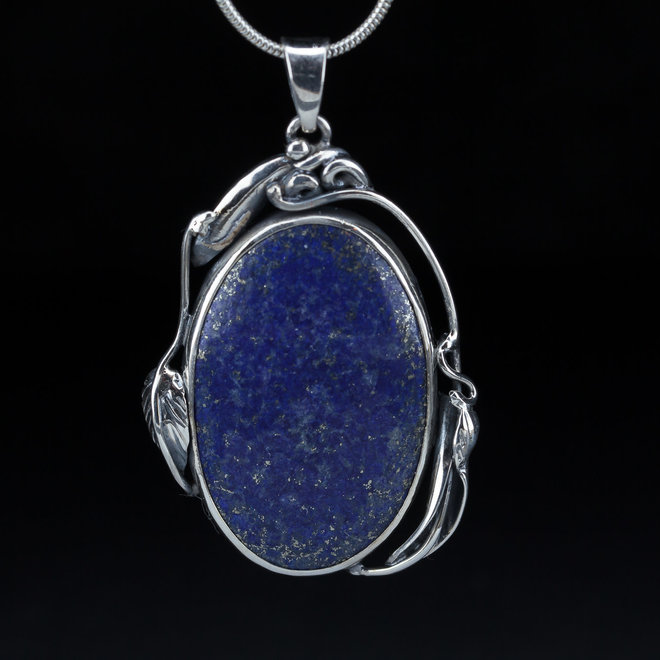 Hanger lapis lazuli 'Gül', uit eigen atelier