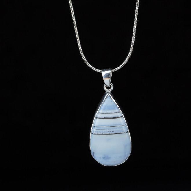 Blauwe Owyhee opaal hanger 'Sky'