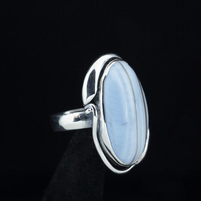 Blauwe Owyhee opaal ring 'Oregon'