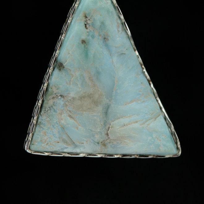 Larimar hanger 'Aspero', gezet in 925 zilver uit eigen atelier