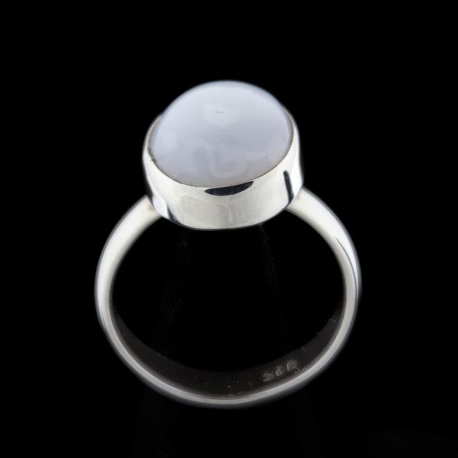 Blauwe chalcedoon ring 'Drillo'