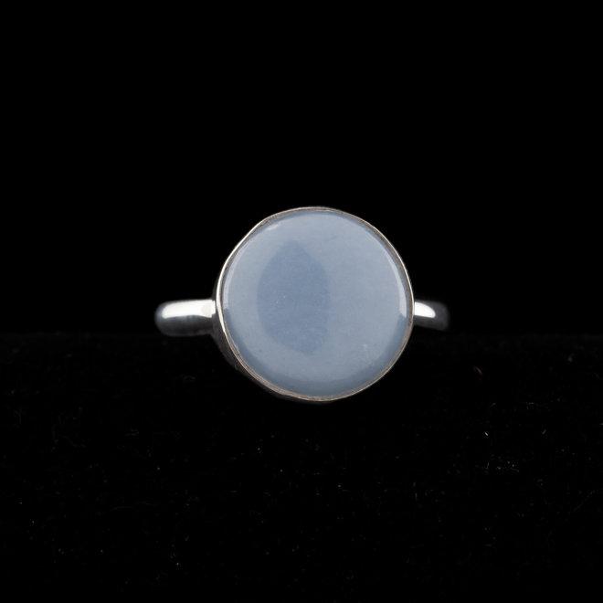Angeliet ring 'Astra', gezet in 925 zilver
