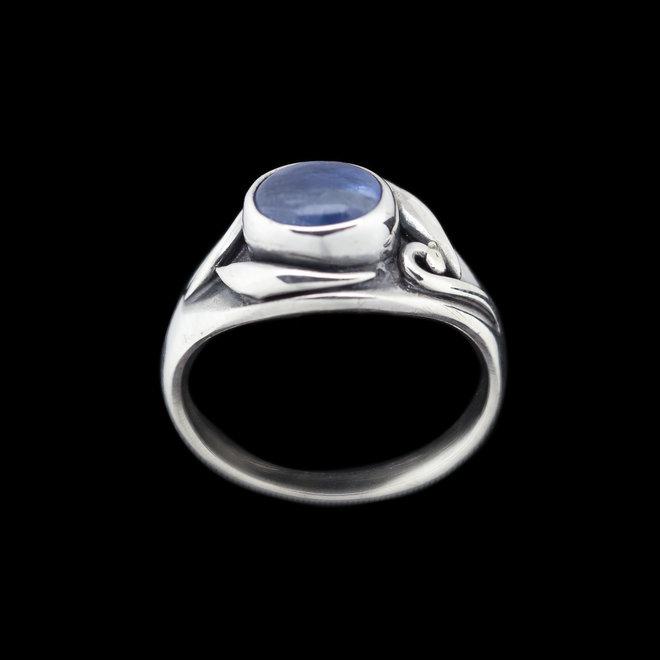 Kyaniet ring 'Sea', gezet in 925 zilver uit eigen atelier