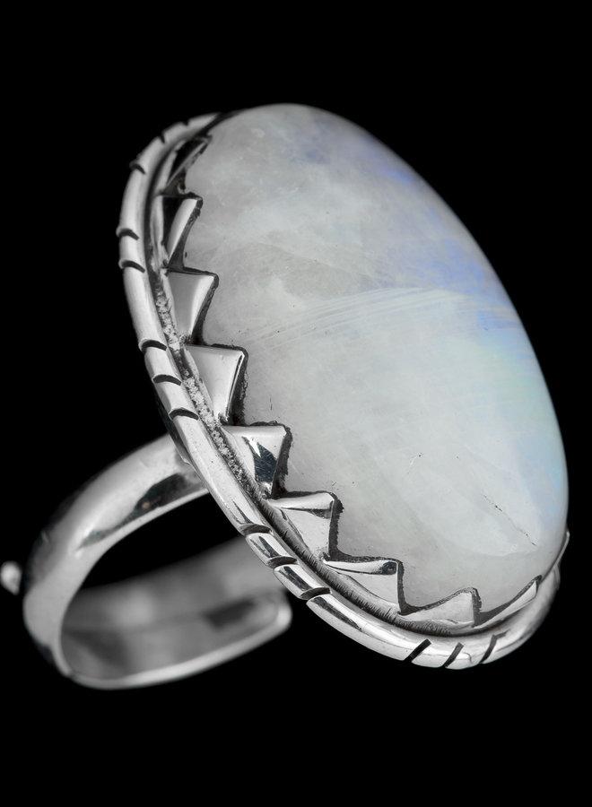 Maansteen ring 'Dante'