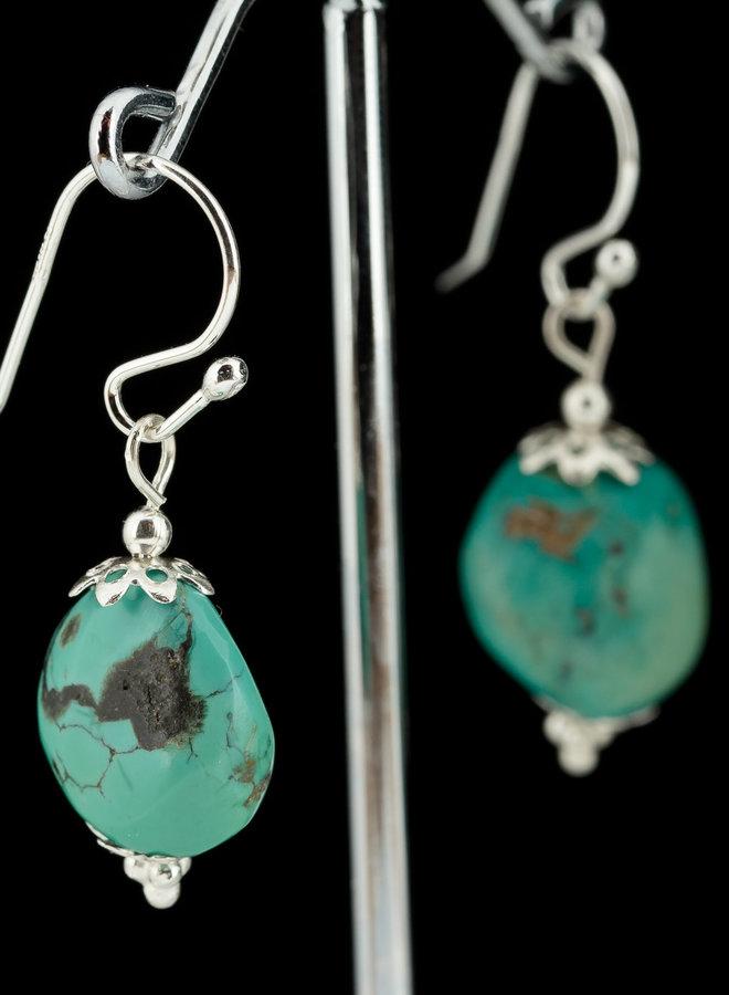 Turkoois sieraden set uit eigen atelier