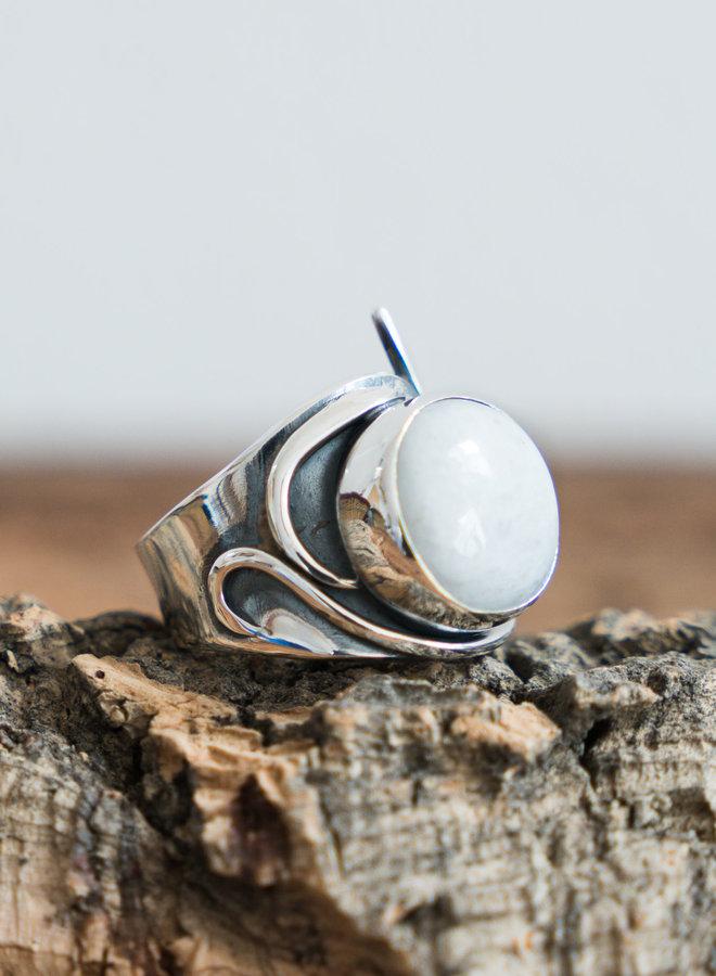 Maansteen ring 'Leva'