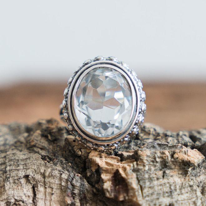Bergkristal ring 'Bade'
