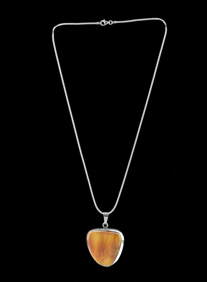 Barnsteen hanger 'Caramel'