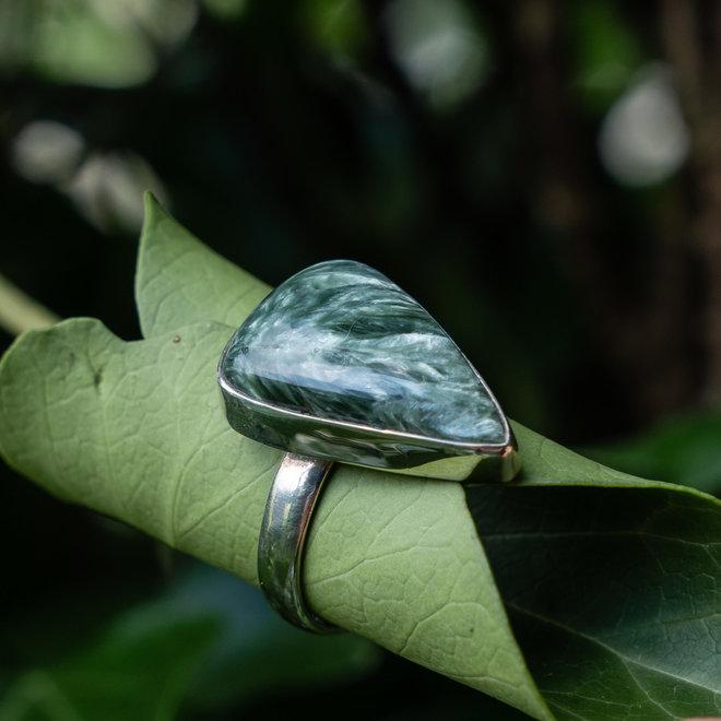 Serafiniet ring 'Krylo', gezet in 925 zilver uit eigen atelier