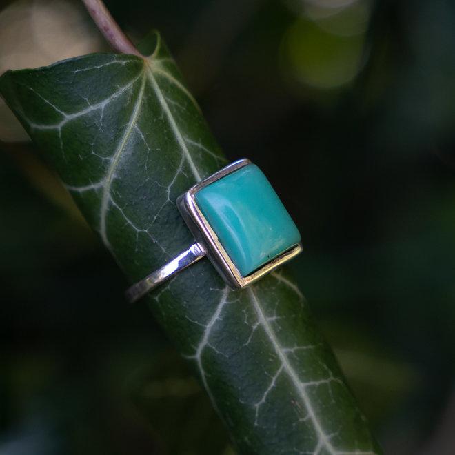 Chrysopraas ring 'Volny'