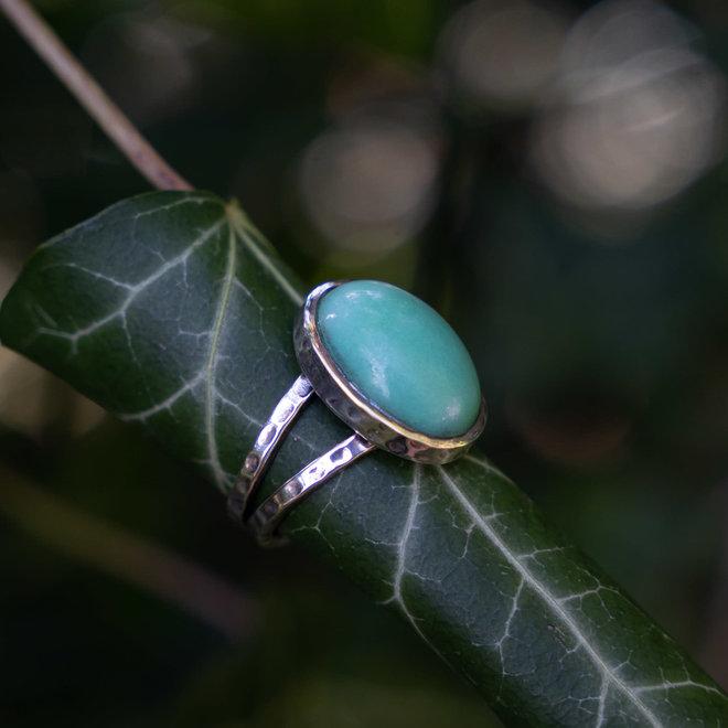 Chrysopraas ring 'Abay'