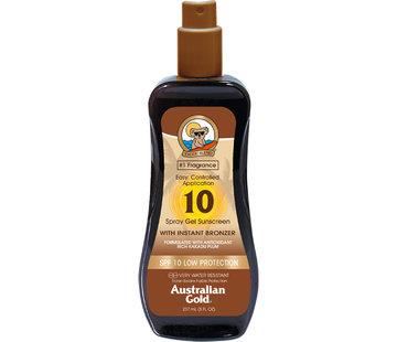 Australian Gold SPF 10 Gel ve spreji s bronzerem