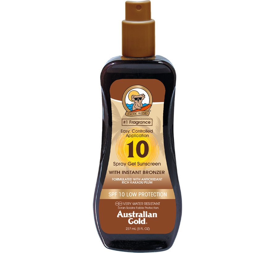 SPF 10 Gel ve spreji s bronzerem - sluneční ochrana