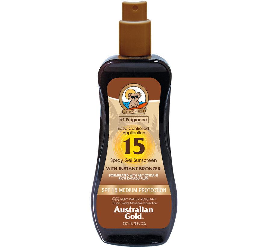 SPF 15 Gel ve spreji s bronzerem - sluneční ochrana