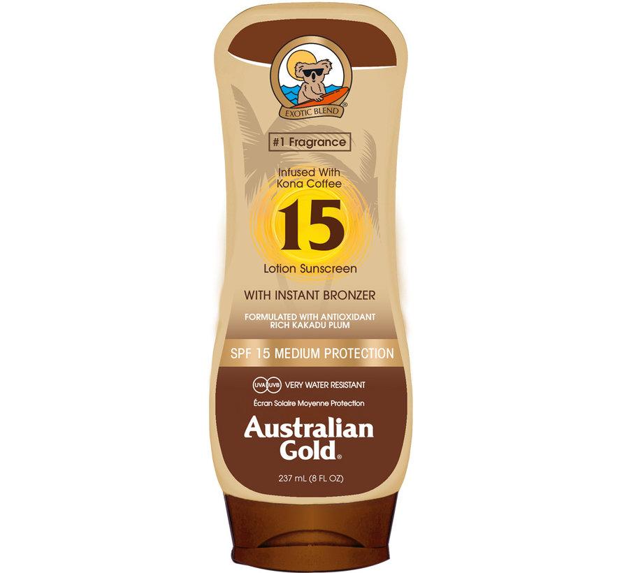 SPF 15 Tělové mléko s  bronzerem- sluneční ochrana