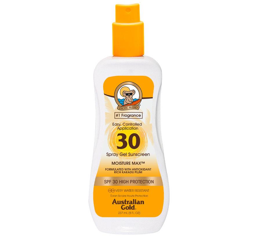 SPF 30 Gel ve spreji bez bronzeru- sluneční ochrana