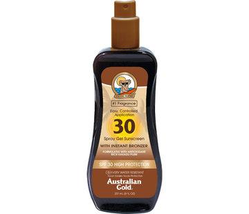 Australian Gold SPF 30 Gel ve spreji s bronzerem