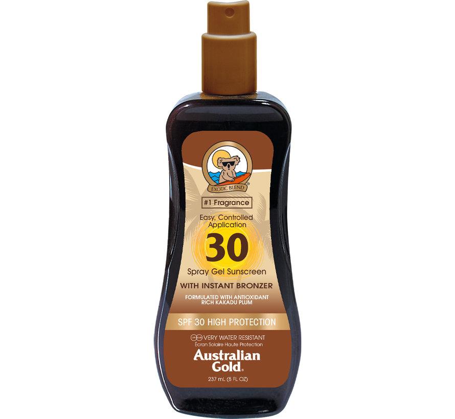 SPF 30 Gel ve spreji s bronzerem - sluneční ochrana